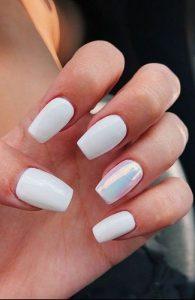 summer white iridescent