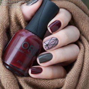 minimal monochrome maroon