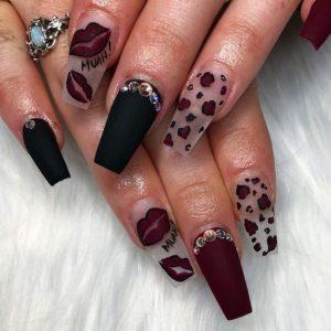 maroon leopard lip
