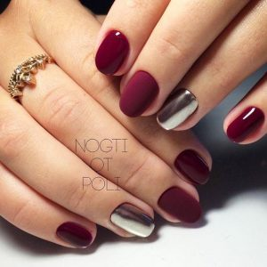 silver chrome accent maroon