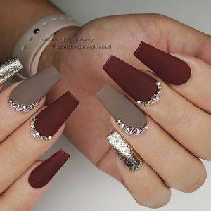 matte maroon grey metallic