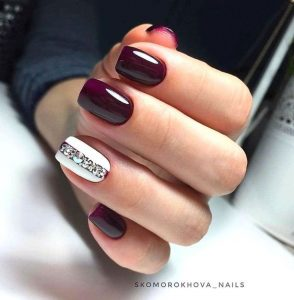 stripe rhinestone maroon