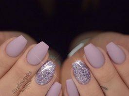 mauve glitter mattified short