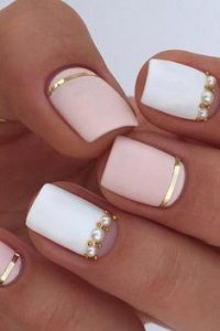 classy white pink pearls