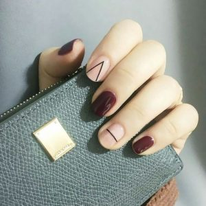 modern minimal stripe maroon