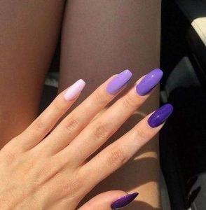 shades of purple short coffin