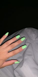 lime green short coffin