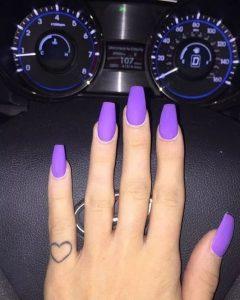 matte bright purple short