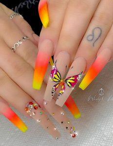 long neon butterflies
