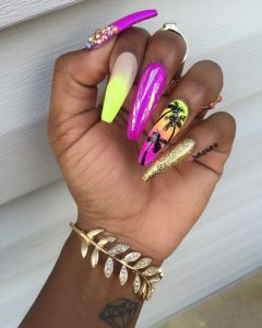 long sunset palms