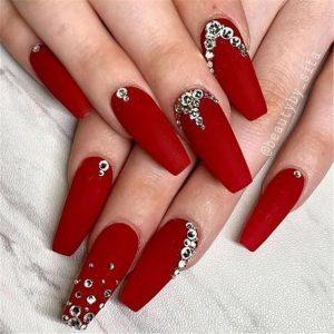 long matte red