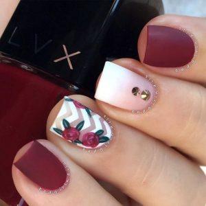 maroon chevron roses
