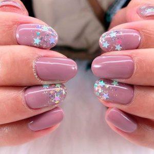 mauve star glitters