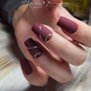 twisted glitter maroon