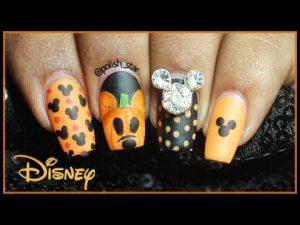 halloween disney nails