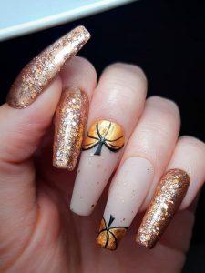 halloween metallic pumpkin
