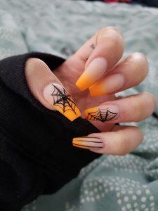 orange web halloween