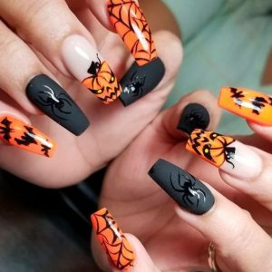 halloween french tip