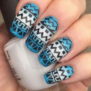 tribal nail pattern