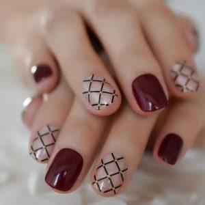 clear line burgundy pattern