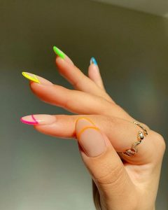 french tip outline brights