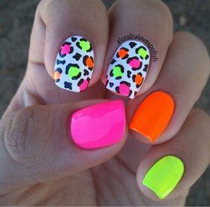 neon leopard print colors