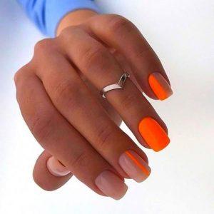 orange neon modern