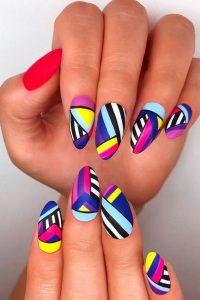 bright nails colorful design