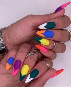 bright french mani inspired