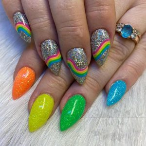 rainbow glitter colors