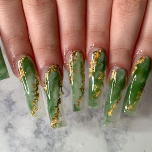 green marbling clear long