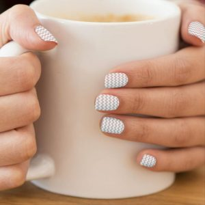 chevron pattern nail