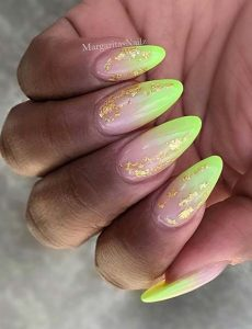 neon tip ombre colors