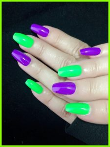 pruple green halloween colors