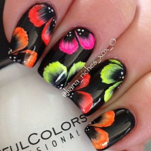 bright hawaii nail flower