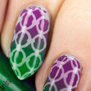ombre circles pattern
