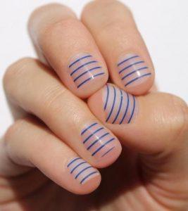 blue clear stripe pattern