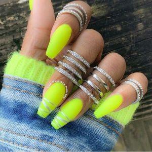 metallic stripe end neon