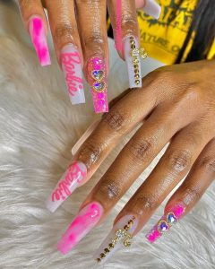 barbie girl long nails