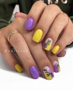 lavender flower yellow