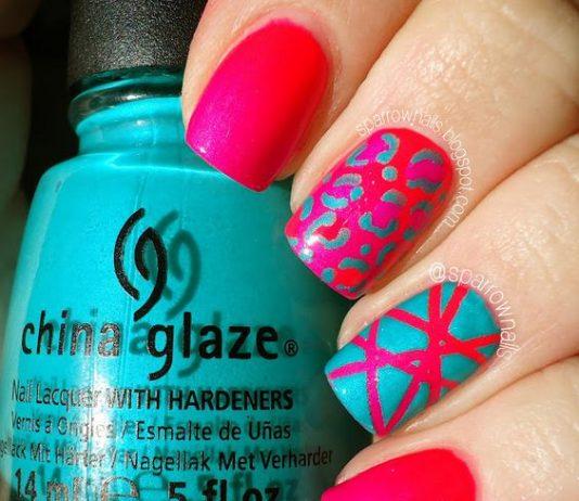 turquoise pink design bright