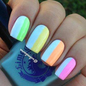half half bright colors