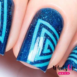 blue shades pattern