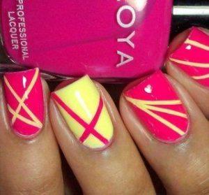 pink yellow striping
